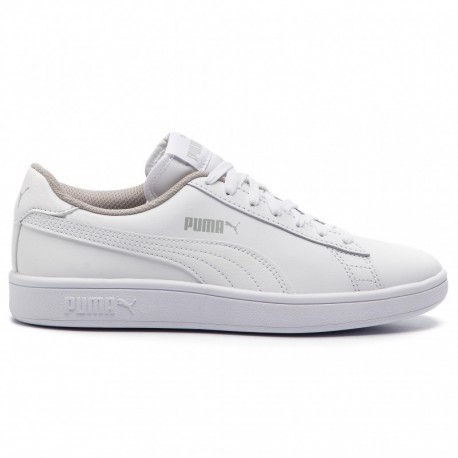 Puma Smash V2 L Jr Donna Total White 365170-02 White/White