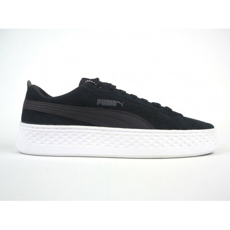 Puma Smash Platform Sd Donna Black/White 366488-01 Nero