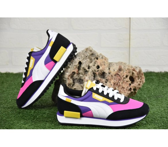 Puma Future Rider Play On Donna / Ragazzo Jr Pink/White/Black 372349-07