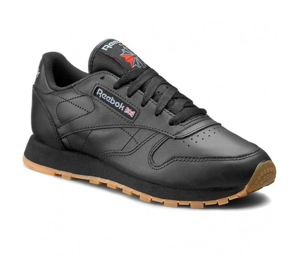 Reebok Classic Leather W Donna / Ragazzo 49804 Nero Black/Gum