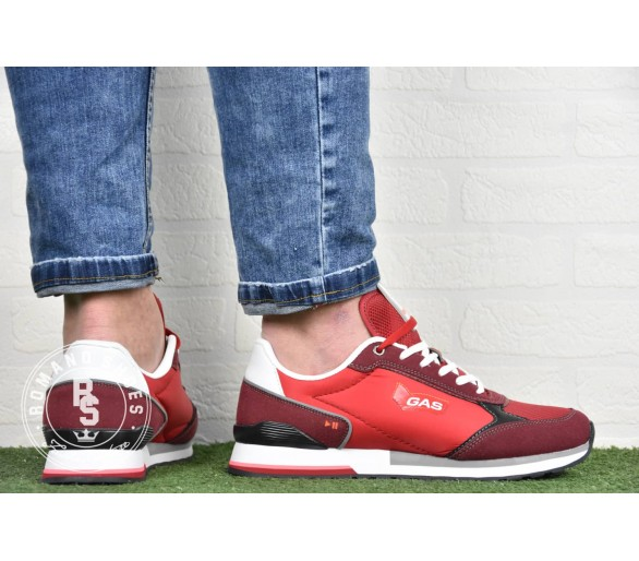 GAS Sneakers Uomo GAM113905-5151 Rosso Red