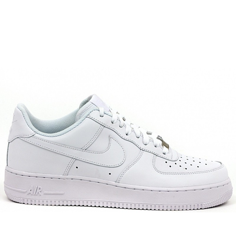SCARPE NIKE AIR FORCE 1 LOW '07 BASSE BIANCO WHITE UOMO 315122 111 ORIGINALI