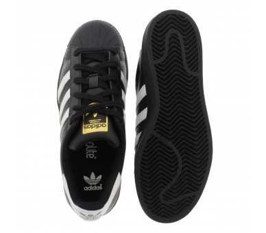 Adidas Superstar Foundation J B23642 donna ragazzo black