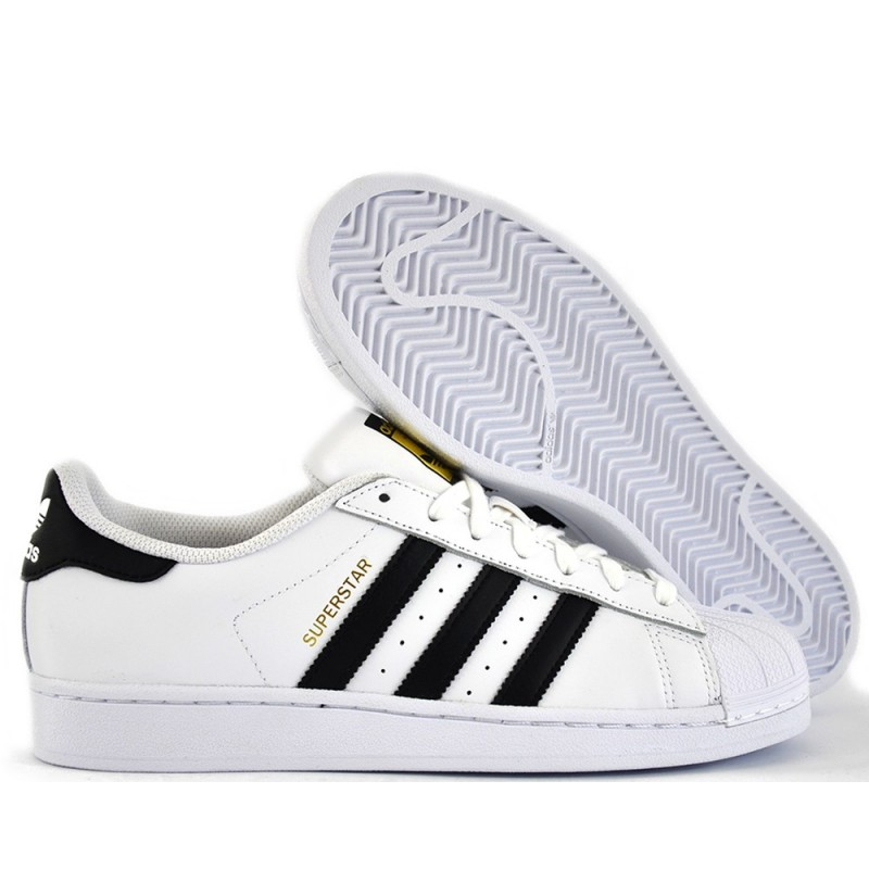 Adidas Superstar C77124 fasce nere - Scarpe Uomo - Outlet RomanoShoes acaf6f8578a