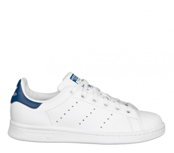 Adidas Stan Smith j bianco con retro blu S74778