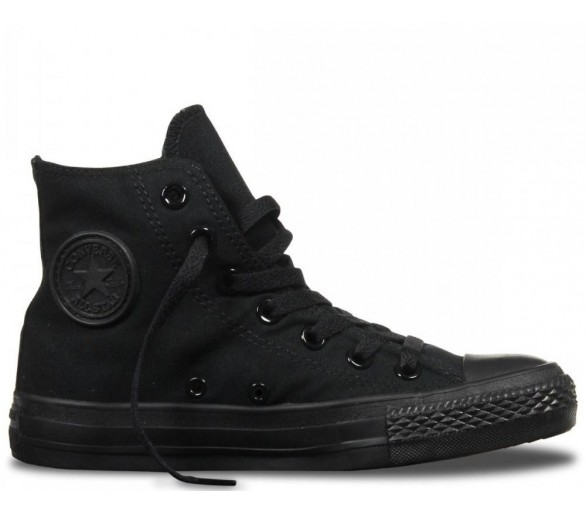 CONVERSE ALL STAR HI nero total black uomo donna M3310