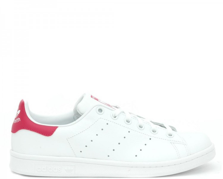 Adidas Stan Smith Donna B32703 bianco con retro rosa