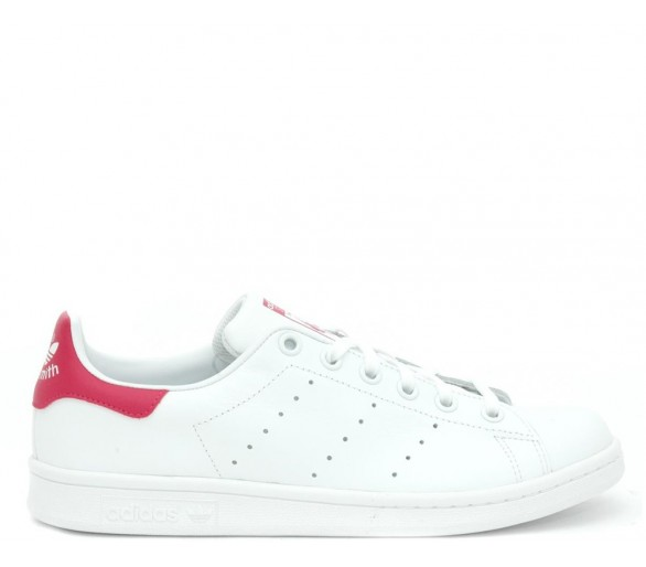 Adidas Stan Smith j Donna bianco rosa B32703
