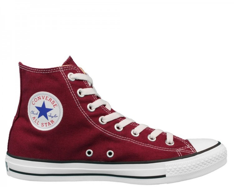 Converse All Star hi Uomo Donna unisex m9613c Maroon Bordeaux