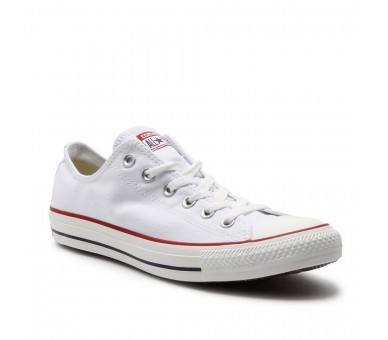 Converse all star Uomo Donna M7652 Optic White basse tela unisex