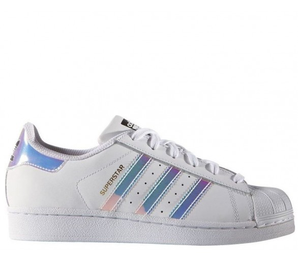 Adidas Superstar J white metallic AQ6278