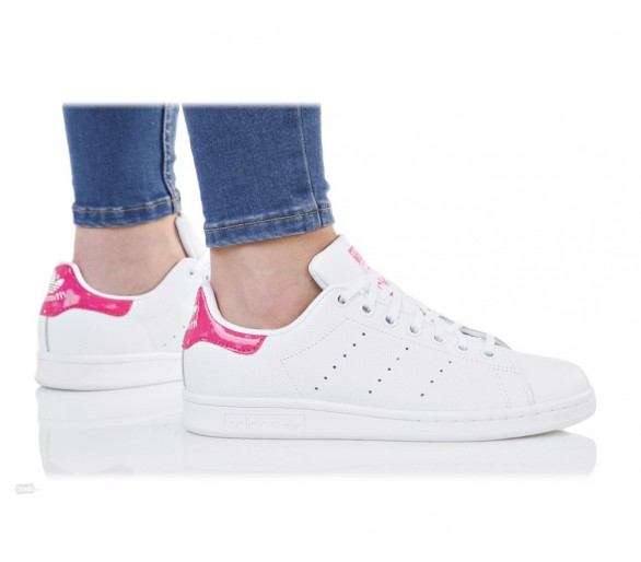 Adidas Stan smith J bianco rosa lucido DB1207