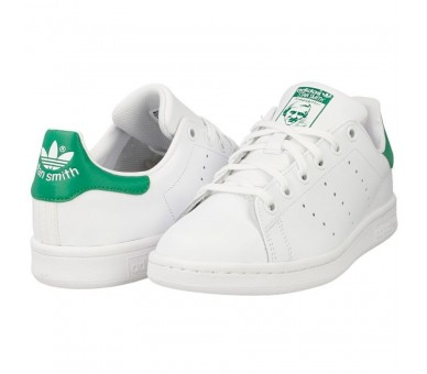 Adidas Stan Smith J bianco / verde M20605