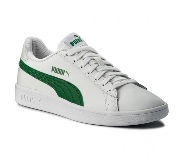 Puma Smash V2 Leather Uomo bianco/verde 365215 03