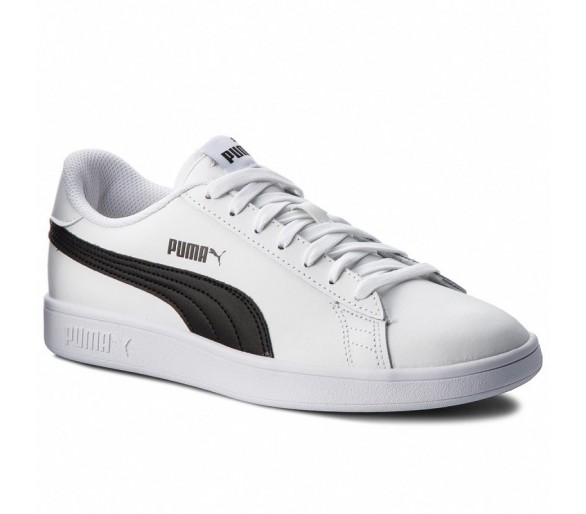 Puma Smash V2 leather Uomo bianconero