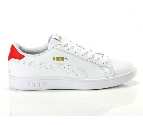 Puma Smash v2 L Donna White red 365215 17