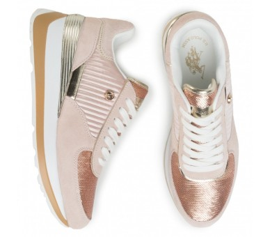 Sneakers U.S. POLO ASSN. Donna Valery3 YLA4091W9/TS2 Paillettes Nude
