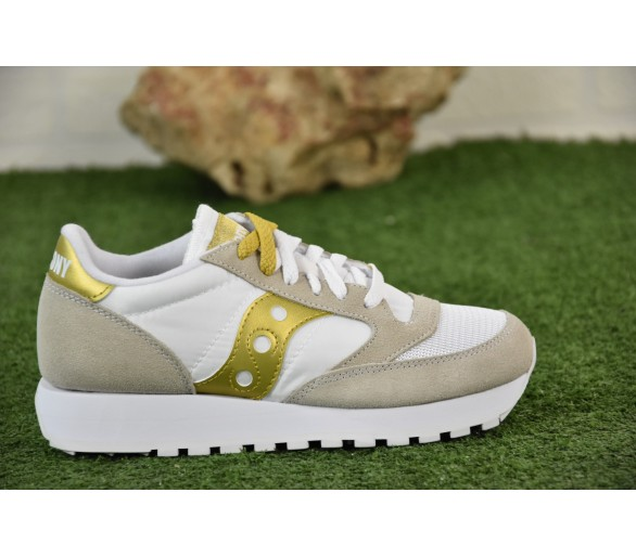 Saucony Jazz Original Vintage Donna S60368-143 White/Gold