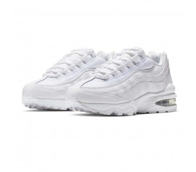 Nike Air Max 95 Donna / Ragazzo White Metallic Silver (GS) 905348-104