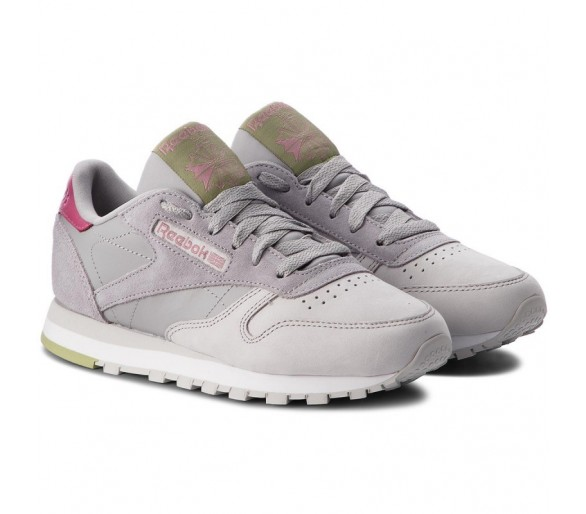 Reebok Classic Leather Donna CN4025 Tin Grey/Skull Grey/Berry