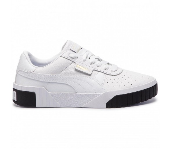 Puma Cali Womens Donna White/Black 369155-04