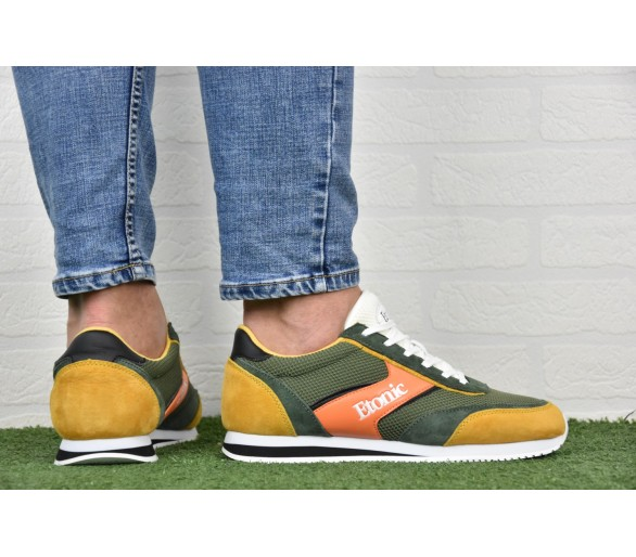 Etonic JOG Uomo Green/Orange/Yel E196120404-GRN Verde